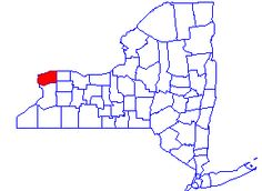 """Niagara County is located in western New York State. The county seat is Lockport, NY, first settled in 1816 and incorporated in 1865. Niagara County is most famous for its """"Seventh Wonder of the World,"""" Niagara Falls, which includes the Thundering Rapids, Bridal Veil Falls, and Horseshoe Falls."""