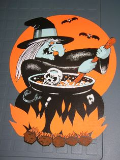 Halloween Night, Halloween Art, Happy Halloween, Vintage Halloween Decorations, Vintage Witch, Hallows Eve, Superhero Logos, Craft Ideas, Blog