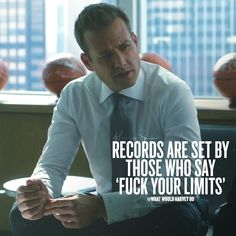 I don't do limits. #whatwouldharveydo #work #notlucky #hustle #harveyspecter #gabrielmacht #wwhd