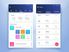 Fitness Tracker App by Rifayet Uday #Design Popular #Dribbble #shots