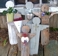 Garden angels from fence pickets by madge