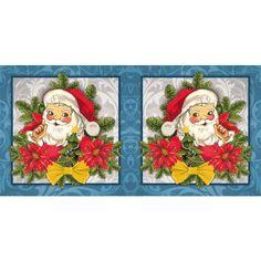 Prickel-Karte, Weihnachtsmann, 16 x 16 cm | Weihnachts-Deko | Basteln Weihnachten | Bastelbedarf für Anlässe | Ideen mit Herz