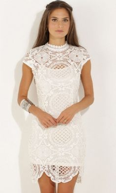 Amanda Autumn Lace Dress in White. Free Shipping. | Shop this product here: http://spreesy.com/love.lilaa/30 | Shop all of our products at http://spreesy.com/love.lilaa    | Pinterest selling powered by Spreesy.com