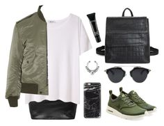 """""""IT GIRL"""" by baludna ❤ liked on Polyvore featuring NIKE, T By Alexander Wang, Yves Saint Laurent and MAC Cosmetics"""