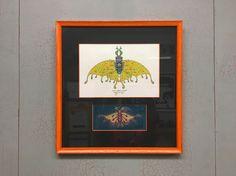 Two Marq Spusta Serigraph Prints Custom Framed in a Rustic Orange Fotiou Moulding - http://www.custompictureframer.com/two-marq-spusta-serigraph-prints-custom-framed-in-a-rustic-orange-fotiou-moulding/