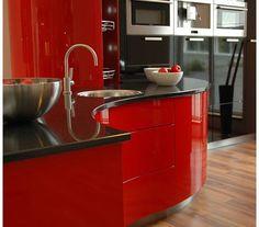 Parlak ve laminat kaplama Ferrari mutfak modern ve lüks mutfak tasarımları