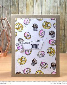 Coffee Lovers Winter Blog Hop with Studio Katia - Inkyfingers & Ribbon