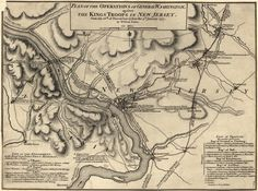 Trenton Battle Map, American Revolution