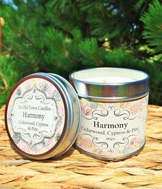 Harmony, Reminiscent of an evergreen forest, a blend of Cedarwood, Cypress and Pine pure essential oils. A wonderful woodland scent, to help clear sinuses & ease tension. Scented at 8%, 180gm candle tin, approx burn time 40 hrs.     A Ye Old Town personal favorite!     Ye Old Town Candles are a small Irish company and makers of fine luxury soy candles scented with only pure essential oils. All our candles are handmade in small batches on the east coast of Ireland and expertly crafted without…