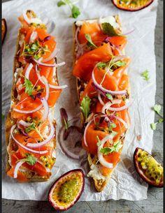Recettes tartines salées saumon