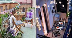 Contar con un balcón en nuestro apartamentoes sin duda una suerte, no importa que el mismo sea pequeño, siempre podemos hacer de este pequeño ... Interior Exterior, Patio, Outdoor Decor, Home Decor, To Tell, Log Projects, Small Balconies, Decorated Boxes, Balcony Design