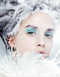 Julia Frauche by Kenneth Willardt for Vogue Japan January 2013