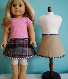Free pattern: Circle skirt for an 18″ doll - Sewing