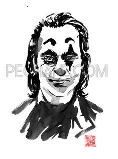 the joker sad face Drawing Sumi E Painting, Sad Faces, Buy Art, Paper Art, Saatchi Art, Original Art, Gotham Joker, Joker Batman, Ink