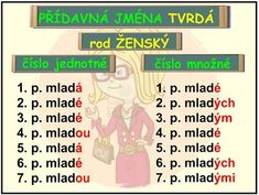 PŘÍDAVNÁ JMÉNA TVRDÁ Homeschool, Education, Memes, Literatura, Meme, Onderwijs, Homeschooling, Learning