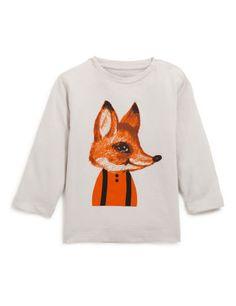 Tee-shirt manches longues imprimé renard by Monoprix