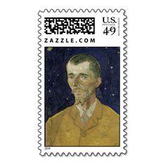 The Poet Eugene Boch by Vincent Van Gogh Postage Stamp