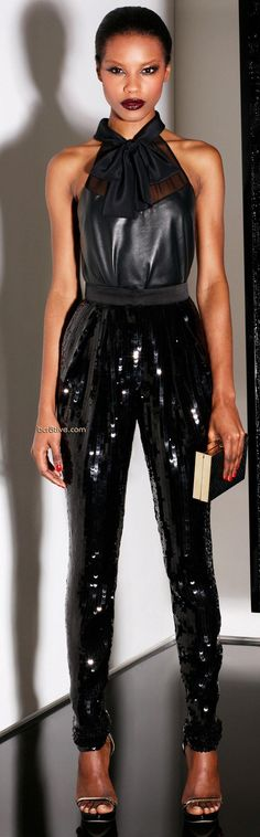 "glamour: "" Jason Wu pre-fall sexy new ways to wear leather. Jason Wu, High Fashion, Fashion Show, Runway Fashion, Fashion Black, Woman Fashion, Fashion Killa, Lingerie, Chic"