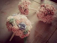rose bouquet bridal package by Vintagealice30 on Etsy, £199.00