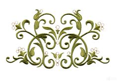 Embroidery Designs Product | Bsb107 Baroque Swirl 7 Embroidery Design