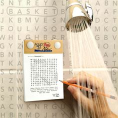 now for sure I'll never be on time. Fab.com | Waterproof Shower Brainteasers
