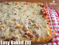 Easy Baked Ziti