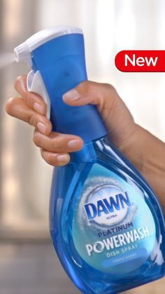 New Dawn Powerwash Stop scrubbing and start spraying. Dawn Platinum Powerwash Dish Spray is the faster, easier way to clean dishes as you cook. It cuts through grease five times faster than non ultra Dawn. It will change the way you wash dishes.