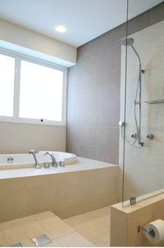 Para los baños de las habitaciones se escogieron revestimientos y materiales sobrios, en  tonos neutros para evitar la saturación de los sentidos en su uso cotidiano