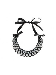 Large Crystal Ribbon Necklace