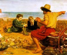 The Boyhood of Raleigh - Millais John Everett Date: 1870 Style: Romanticism Genre: genre painting Media: oil, canvas