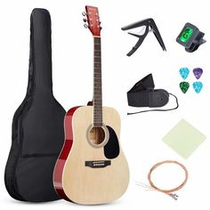 Walmart has theSKONYON Guitar 41-inch all-Wood Acoustic Guitar Starter Level Kit w/Gig Bag, E-Tuner, Pick, Strap, Rag – Natural marked down from $198.95 to $84.95 with free shipping. TO GET THIS DEAL: GO HERE to add it to your cart Select in store pick up or get free shipping is free. Final price = $84.95…