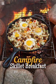 Make a classic camping breakfast with our campfire skillet breakfast recipe. Make a classic camping breakfast with our campfire skillet breakfast recipe. To Eat When Camping Make a classic camping breakfast with. Campfire Breakfast, Breakfast Skillet, Campfire Food, Campfire Recipes, Easy Camping Breakfast, Breakfast Ideas, Dutch Oven Breakfast, Eat Breakfast, Checklist Camping