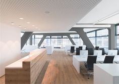 Open plan office design with Wagner Ergomedic chairs.