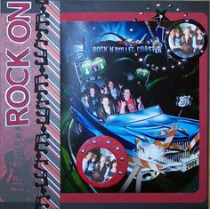 I always buy these theme park photos and then don't know how to scrap them. This is cute!  Rock On - Scrapbook.com