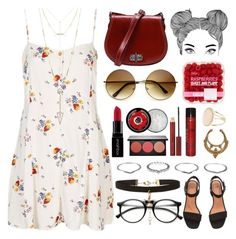 """""""RUBY // itsybitsy62"""" by itsybitsy62 ❤ liked on Polyvore featuring Topshop, CO, New Look, House of Harlow 1960, Smashbox, Kevyn Aucoin, ZeroUV, The Body Shop and Sexy Hair"""