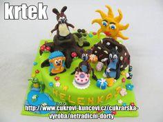 krteček a jeho kamarádi www.cukrovi-kuncovi.cz Kuncovi, Brno - Maloměřice, Hádecká 8, mob. 607606941 Birthday Cake, Christmas Ornaments, Holiday Decor, Desserts, Food, Tailgate Desserts, Deserts, Birthday Cakes, Christmas Jewelry