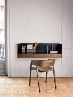 Home Office Desks & Storage Solutions - Resource Furniture Home Office Design, Home Office Decor, House Design, Resource Furniture, Wall Mounted Desk, Wall Desk, Interior Architecture, Interior Design, Floating Desk