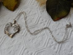 Vintage Jezlaine .925 Sterling Silver Heart w/Vine by bijoullery