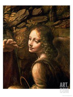 The Virgin of the Rocks (The Virgin with the Infant St. John Adoring the Infant Christ) Giclee Print by Leonardo da Vinci at Art.com