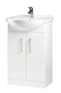B Q White Vanity Unit Basin Departments Diy At B Q From B Q Bathroom Cabinet Bathroom Storage Units Freestanding Bathroom Furniture White Vanity