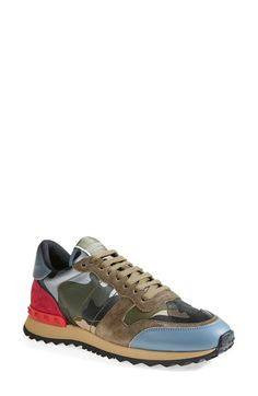 Valentino Camouflage Sneaker (Women) available at #Nordstrom