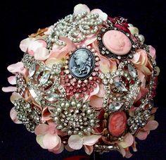 Brooch Bouquet designed by Karen B., A.C. Moore Erie, PA #wedding #weddingbouquet