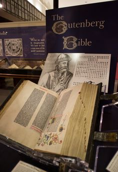 1455 vellum copy Gutenberg Bible at the Huntington Library in San Marino, CA.