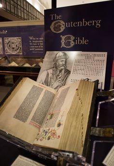 1455 vellum copy Gutenberg Bible at the Huntington Library in San Marino, CA.