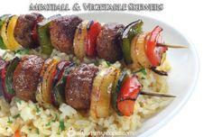 Meatball and Vegetable Skewers