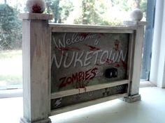 Call of Duty Black Ops 2 Nuketown Zombie Sign Handmade Replica Video Game Party, Party Games, Video Games, Army Birthday Parties, Boy Birthday, Birthday Ideas, Call Of Duty Cakes, Black Ops Zombies, Man Cave Items