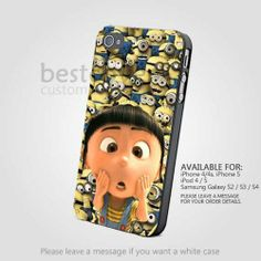 Agnes And Gru Stooge for iPhone 4/4S/5 iPod 4/5 Samsung Galaxy S2/S3/S4 Case | BestCover - Accessories on ArtFire on Wanelo