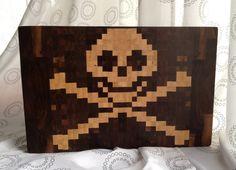Pirate EndGrain Cutting Board by 1337motif on Etsy, $235.00