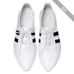 Pointy Sneakers  White - 37