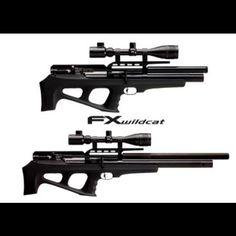 New FX Wildcat bullpups. .22 cal on top, .25 on the bottom.